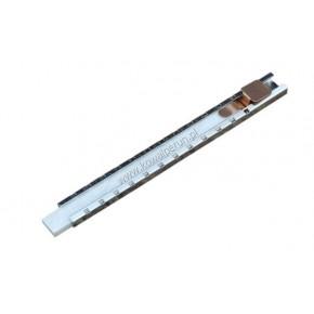 Chalk in a rectangular metal holder